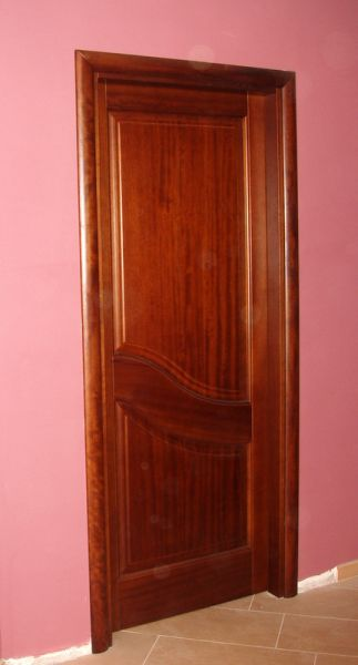 Porta in iroko (due bugne)